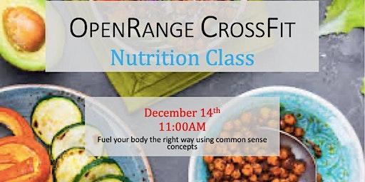 OpenRange CrossFit Nutrition Class