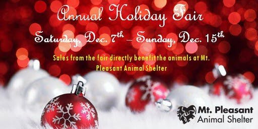 Mt. Pleasant Animal Shelter's Holiday Fair