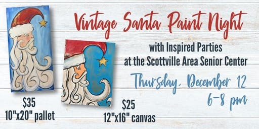 Vintage Santa Paint Night