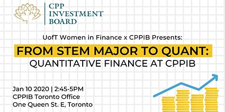 From STEM Major to Quant: Quantitative Investing at CPPIB tickets