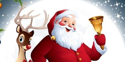 Santa coming to Charlotte Hall. Make ornaments whi