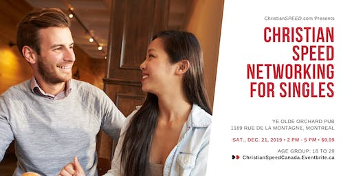 Christian SPEED Networking for Singles // Ages: 18 to 29 // Montreal