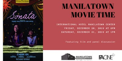 "Manilatown Movie Time presents ""Sonata"""