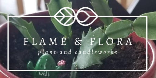 Poured Candle and Plant and Wine Event!