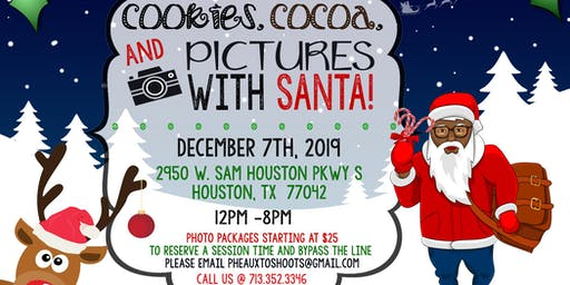 Cookies, Cocoa, and Pictures with Black Santa