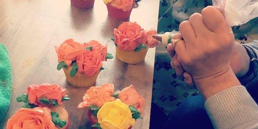 Cupcakes Decorating - Rose (Sunday, Dec 15th, 11am)
