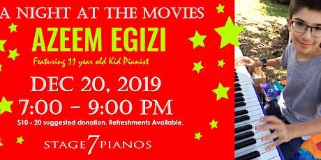 Pianist Azeem Egizi: A Night At the Movies tickets