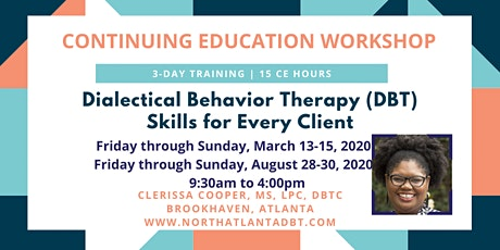 Dialectical Behavior Therapy (DBT) Coping Skills for Every Client tickets