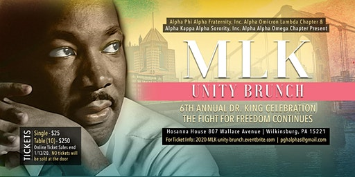 "6th Annual MLK Day Unity Brunch: ""The Fight for Freedom Continues"""