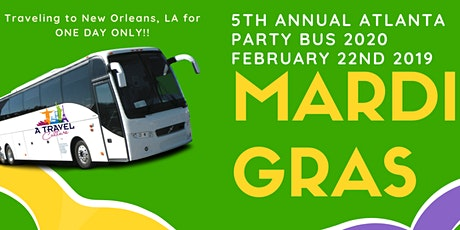 5th Annual Atlanta Mardi Gras Party Bus Alcohol included 2020! tickets