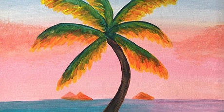Paint and Sip Brisbane 2 for 1 offer southbank including drink - Palm Ocean tickets