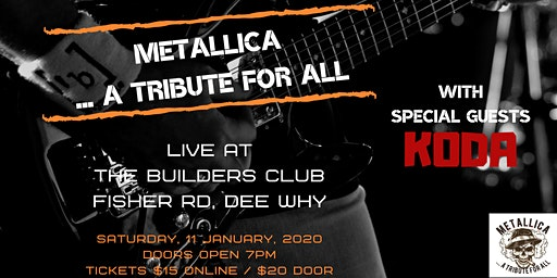 Metallica Tribute at The Builders Club Dee Why