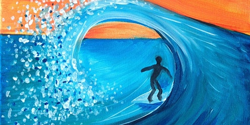 Paint and Sip Brisbane 2 for 1 offer surfer dude