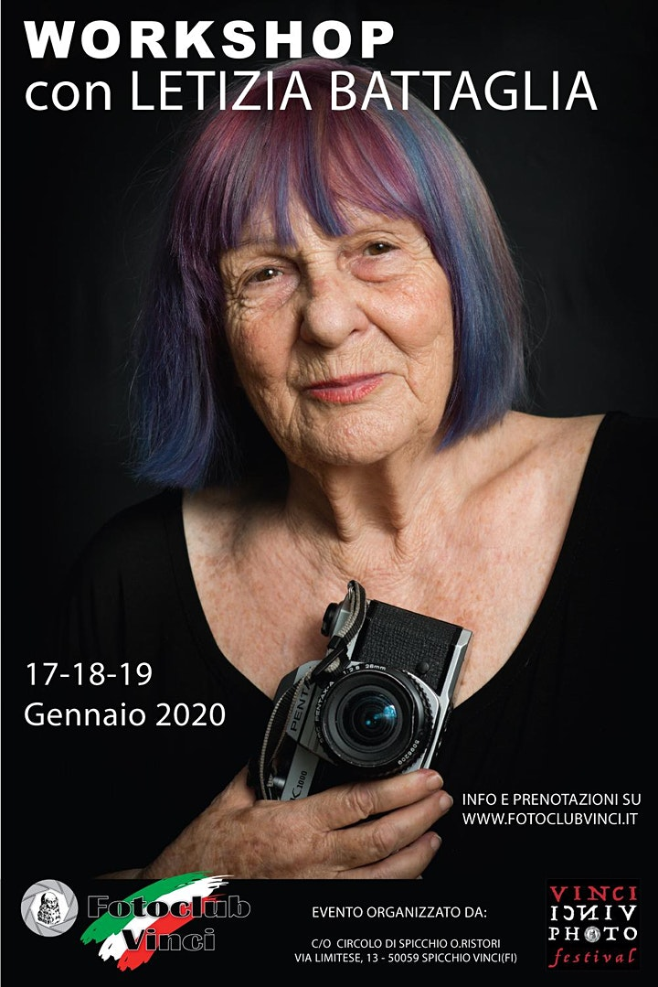 Immagine Workshop Fotografico con Letizia Battaglia al Foto Club Vinci