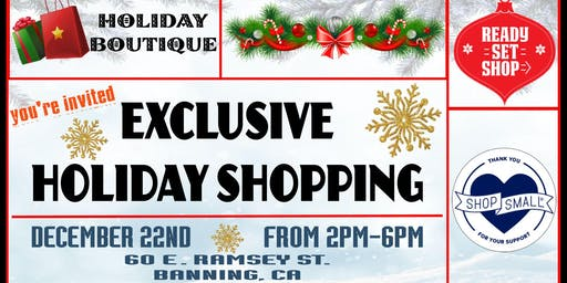 Exclusive Holiday Boutique
