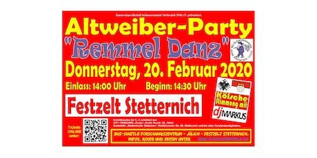 Remmel Danz - Altweiber-Party Tickets