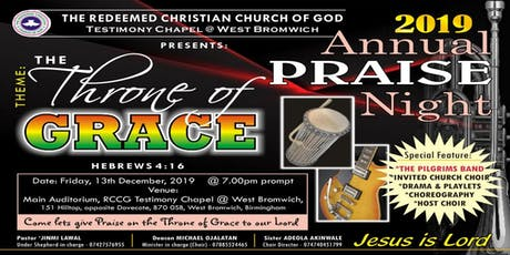 2019 Annual Praise Night: The Throne of Grace tickets