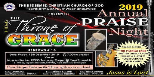 2019 Annual Praise Night: The Throne of Grace