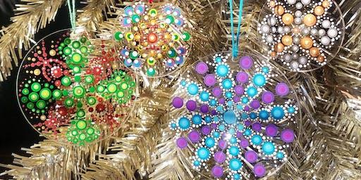 Dot Mandala Light Catcher Ornaments