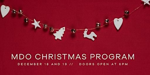 MDO Christmas Program - 2019