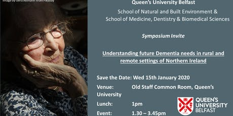 Understanding future Dementia needs in rural and remote settings of Northern Ireland  tickets