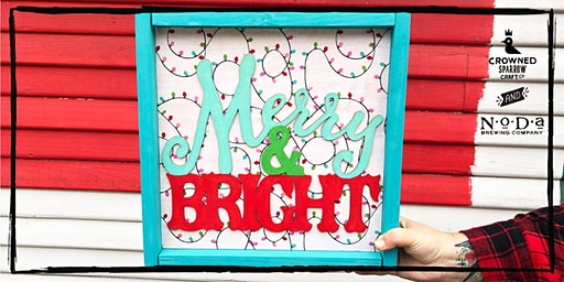 Crowned Sparrow Co. | Merry & Bright Wooden Sign