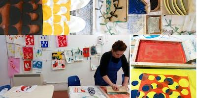 Printed Textiles 2 - Silk Screen Printing with Deborah Manson (Jan - March 2020)