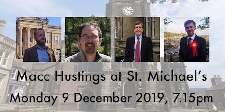 Macc Hustings 2019 tickets