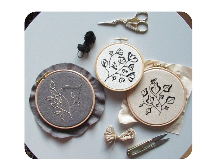 Botanical Embroidery at Object Style image