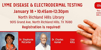 DR. HAMEL, STEPHANIE MCCARTER, & LISA KILTZ ($8 Minimum donation per person)