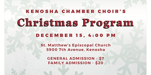 Kenosha Chamber Choir's Christmas Program