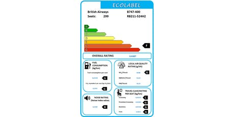 Ecolabel for Aircraft tickets
