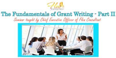 Fundamentals of Grant Writing Part II
