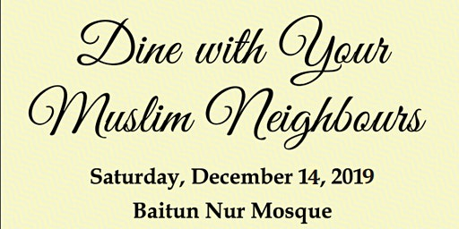 Dine with your Muslim Neighbours