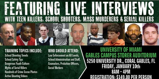 Profiling Teen Killers, School Shooters, Mass Murderers and Serial Killers by Phil Chalmers-Miami, Florida-January 10, 2020