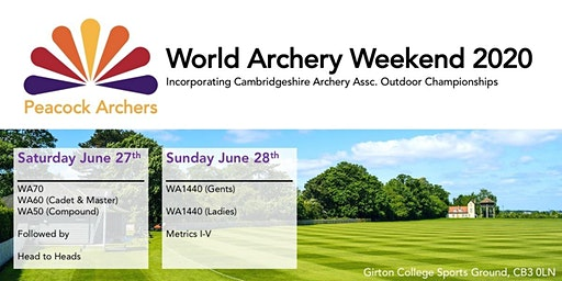 World Archery Weekend 27th & 28th June 2020