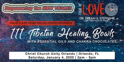 111 Tibetan Healing Bowls for the New Year, Sound Healing, Orlando