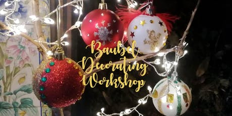 Bauble decorating workshop at Beckenham Place Mansion tickets