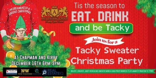 Tacky Sweater Networking Event