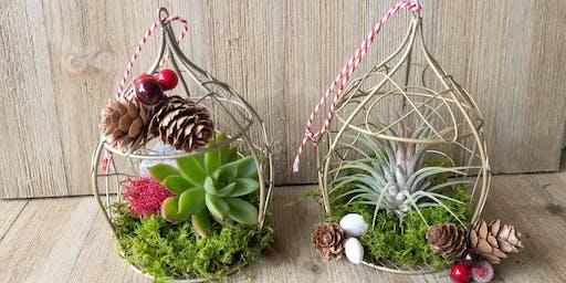 Make-n-Take: Succulent Ornament