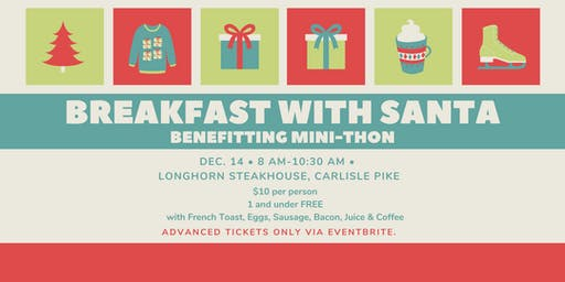 BREAKFAST WITH SANTA DECEMBER 14TH, 2019  - Support Mini Thon