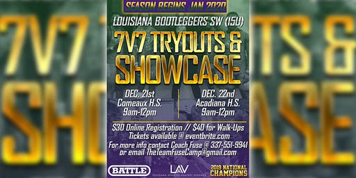 Louisiana Bootleggers (SW) 7v7 Tryouts & Showcase (15U)