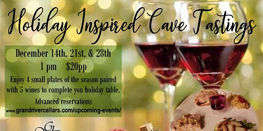 Holiday Inspired Cave Tastings