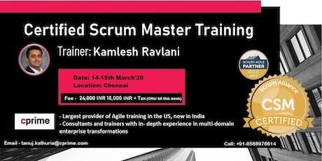 CPrime Certified ScrumMaster Training in Chennai tickets