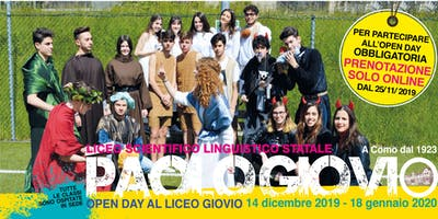 Liceo Giovio - OPEN DAY a.s. 2019/2020