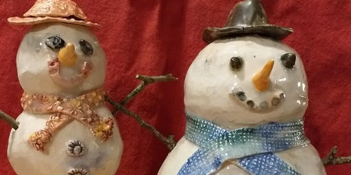 Pottery workshop- build your own snowperson and other stuff