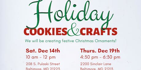 Holiday Cookies & Crafts by Elevation Arts tickets