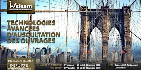 Technologies avancées d'auscultation des ouvrages (séminaire de formation) billets