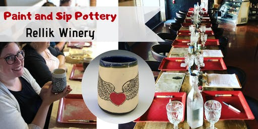 Paint & Sip Pottery at Rellik Winery!