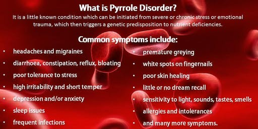 New advances in the diagnosis and treatment of Pyrrole Disorder (Webinar)